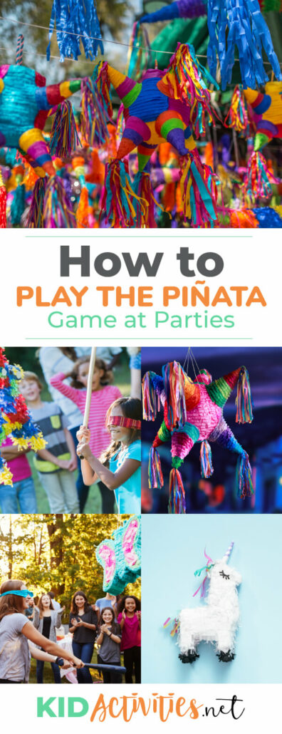Learn how to play the piñata game for your next party. Great for kids birthday parties, themed parties, and other celebrations.