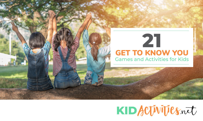 A collection of get to know you games and activities for kids.