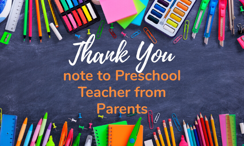 How To Write The Best Thank You Note To A Preschool Teacher