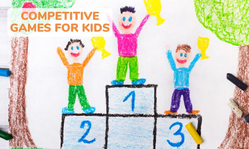 一系列适合儿童的竞技亲子游戏。