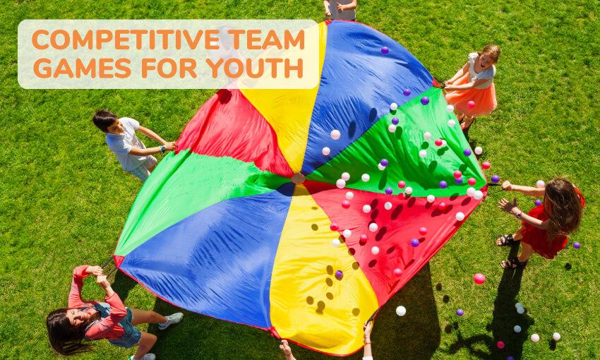 青年竞争性团队亲子游戏的集合。