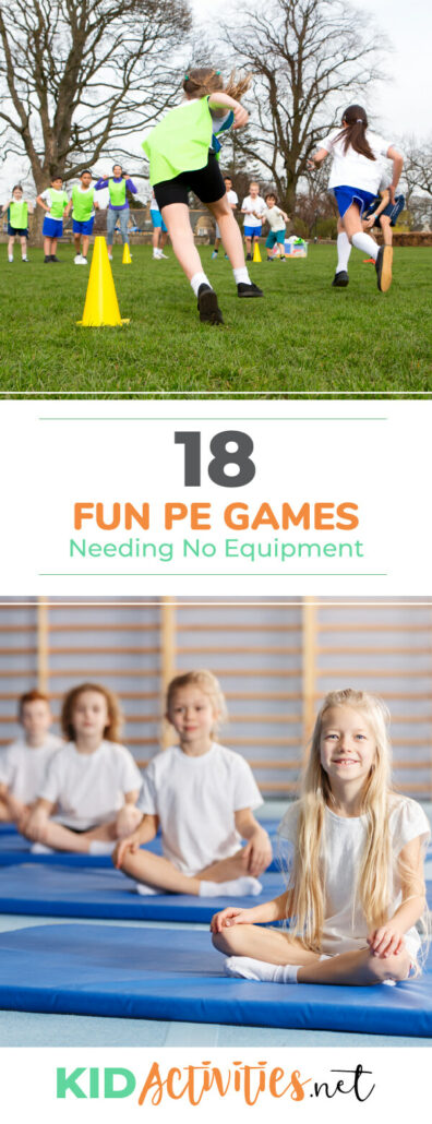 A collection of fun PE games needing no equipment. These games are a great combination of fun and exercise.