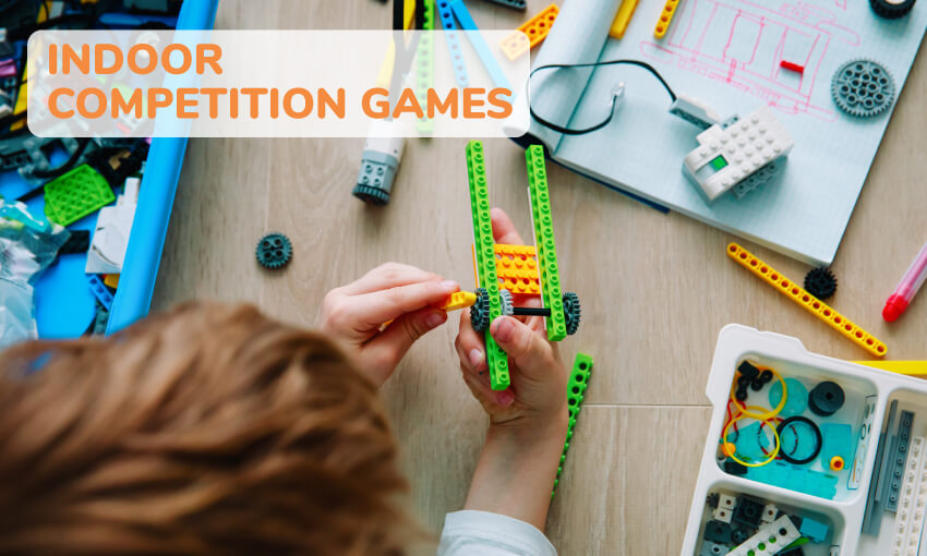 A collection of indoor competition games for kids.