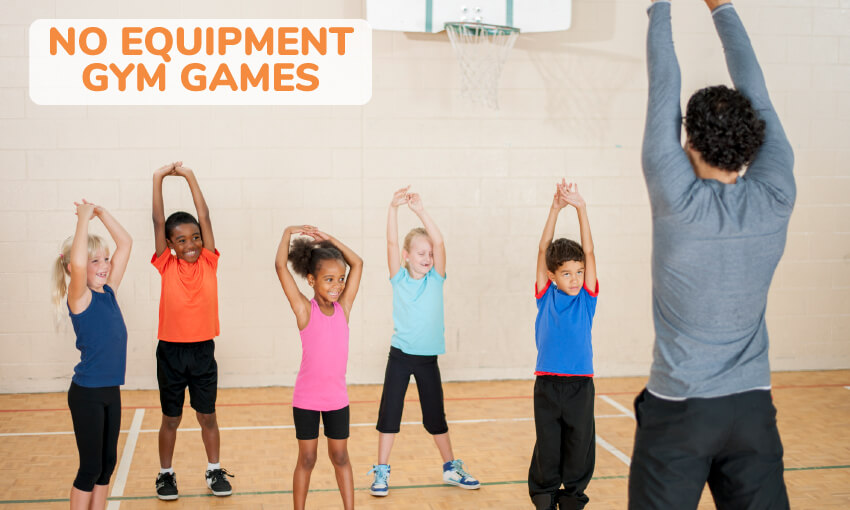 A collection of no equipment gym games for kids.
