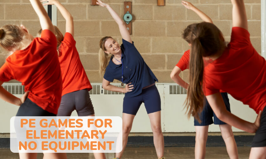 A collection of PE games for elementary students needing no equipment.