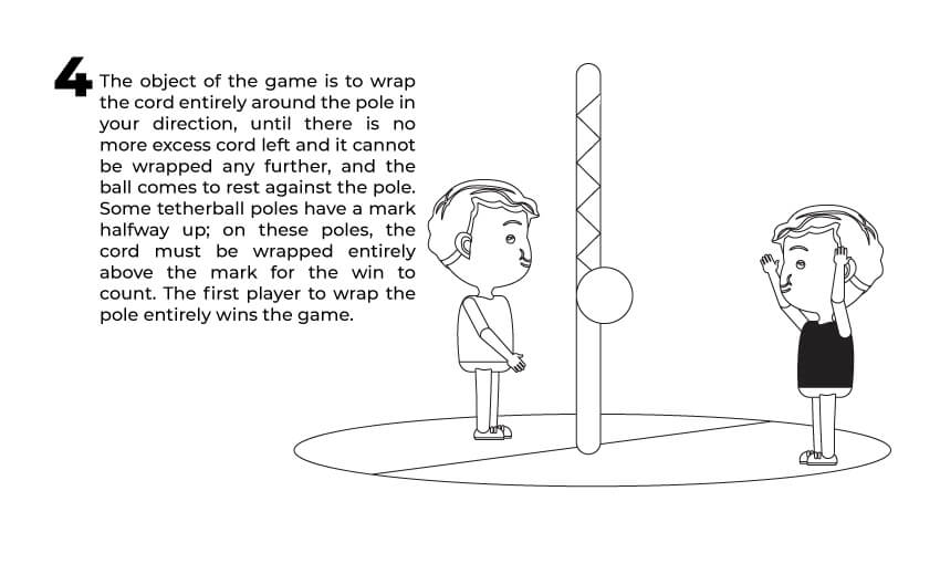 The fourth rule of tetherball play.
