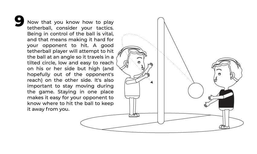The ninth rule of tetherball play.