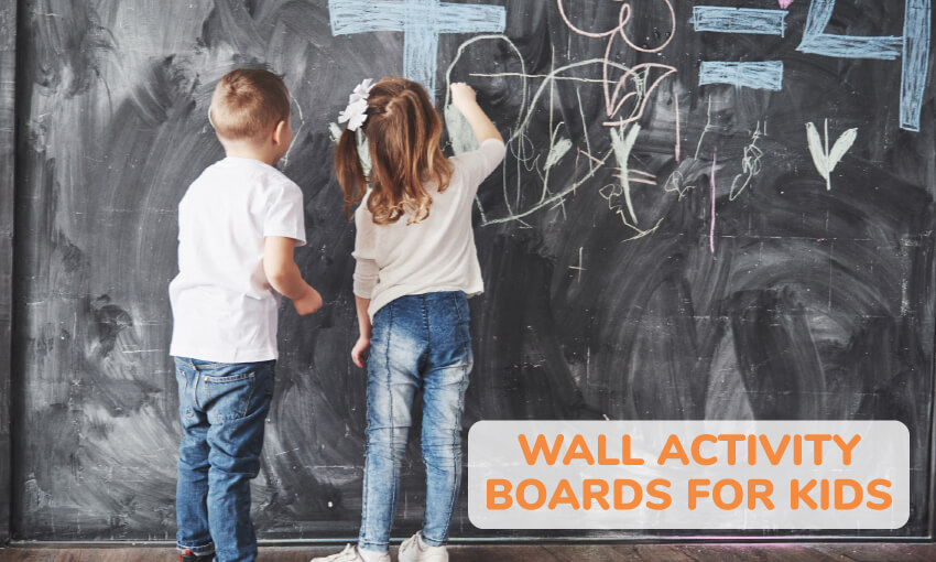 A collection of wall activity board ideas for kids.