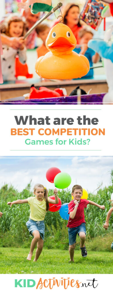 What are the best competition games for kids? Here you will find a list of indoor and outdoor competition games for kids.