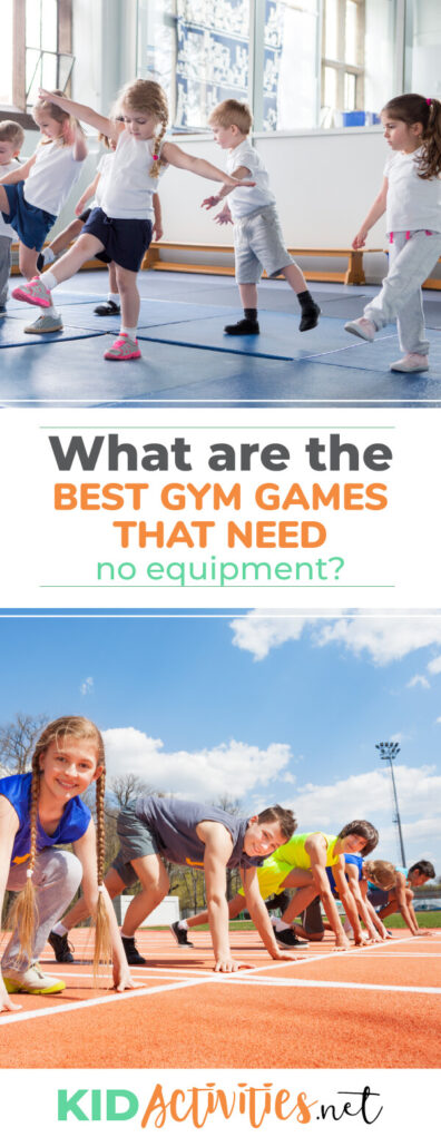 What are the best gym games needing no equipment? We list 18 fun games that incorporate an element of exercise.