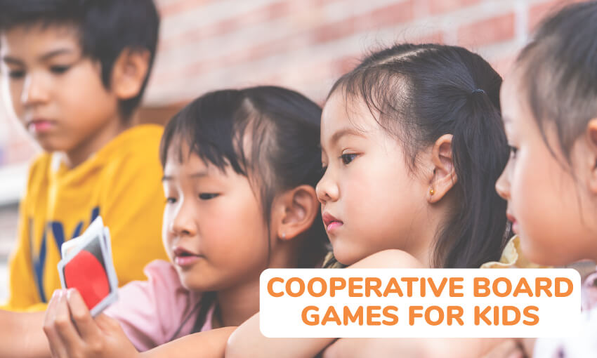 A collection of cooperative board games for kids.