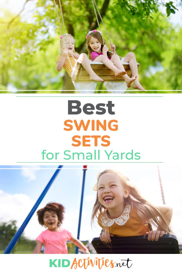 A collection of 5 of the best swing sets for small yards. Get detailed information to help you find the perfect swing set.