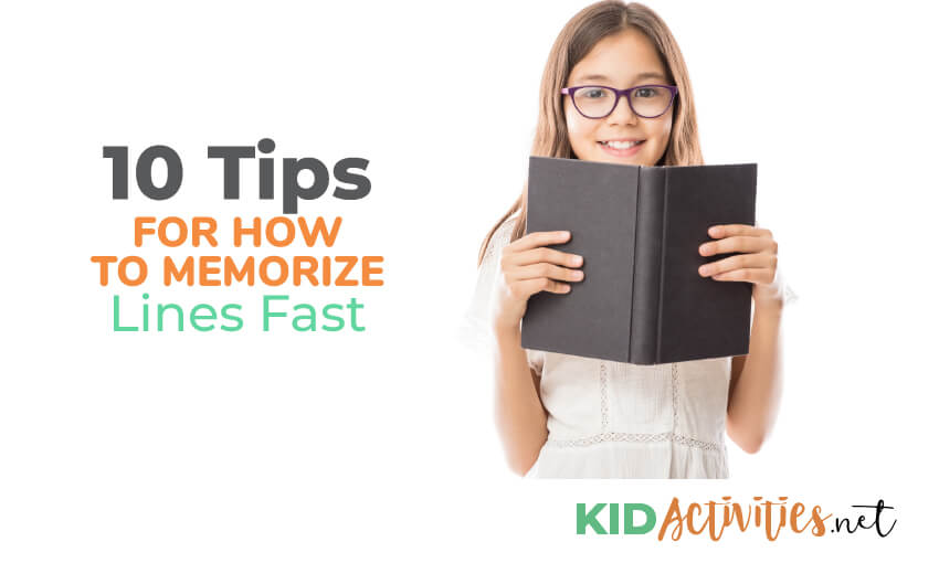 A collection of tips on how to memorize lines fast.