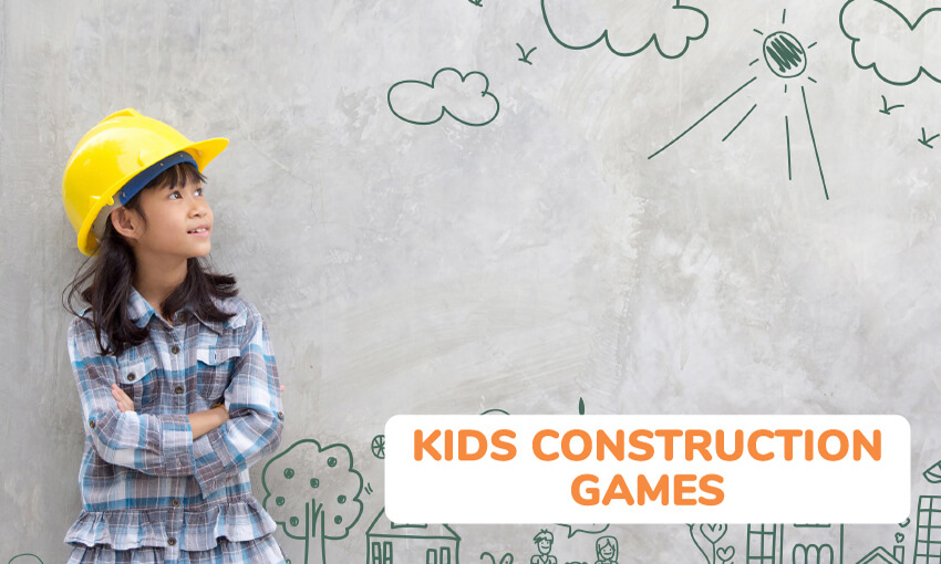 A collection of kids construction games and activities.
