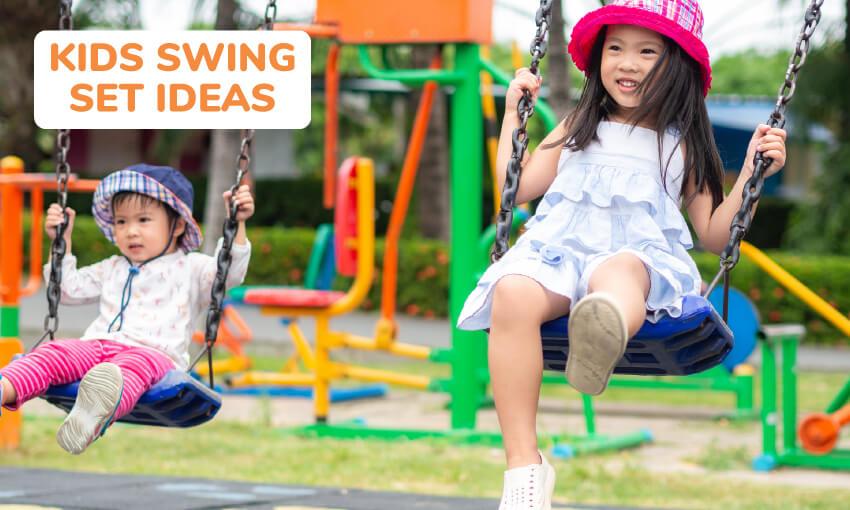 Kids swing set ideas.