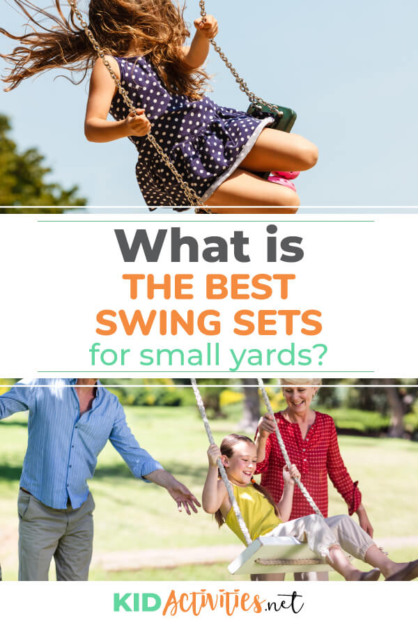 What is the best swing set for small yards? Here we review the options and the features of these compact swing sets.