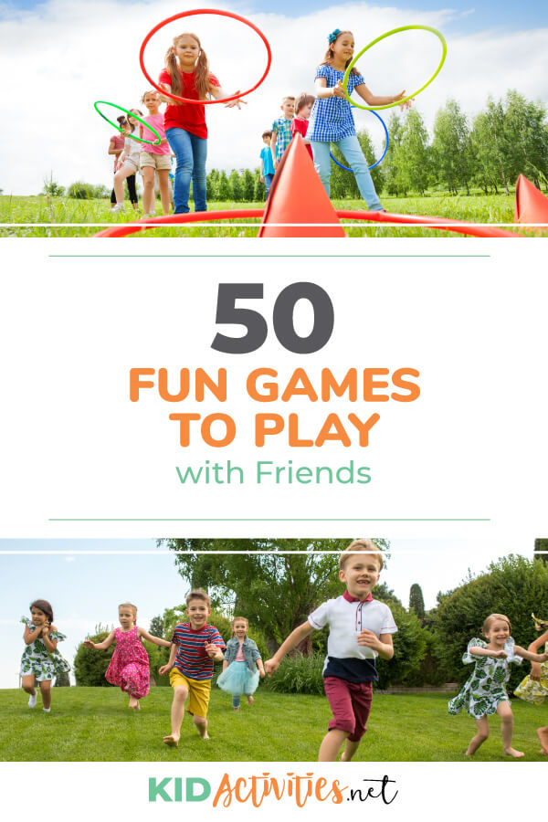 A collection of fun games to play with friends. Enjoy a variety of indoor and outdoor games to help keep kids entertained.