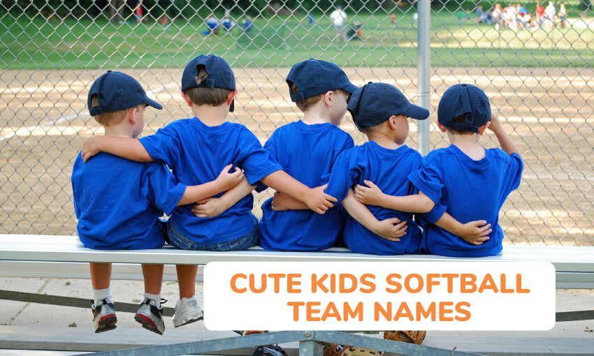 A collection of cute kids softball team names for kids.