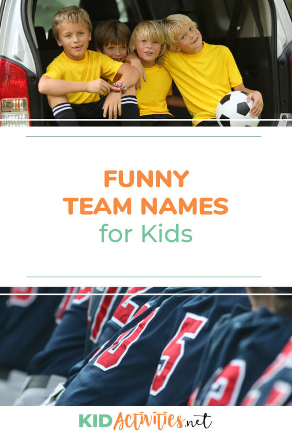 A collection of funny team names for kids. Great for team sports or pick up games in the gym.