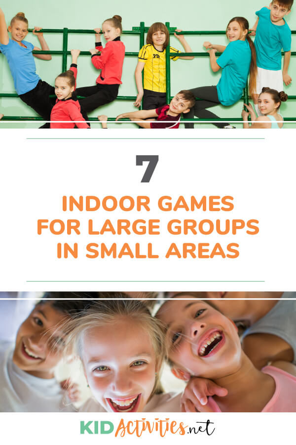 A collection of 7 fun indoor games for large groups of kids in small areas. Great for spaces like a small classroom, bedroom, or even a motorhome.