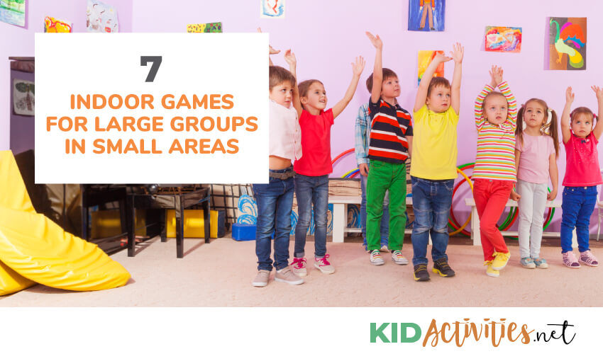 A collection of indoor games for large groups of kids in small areas.