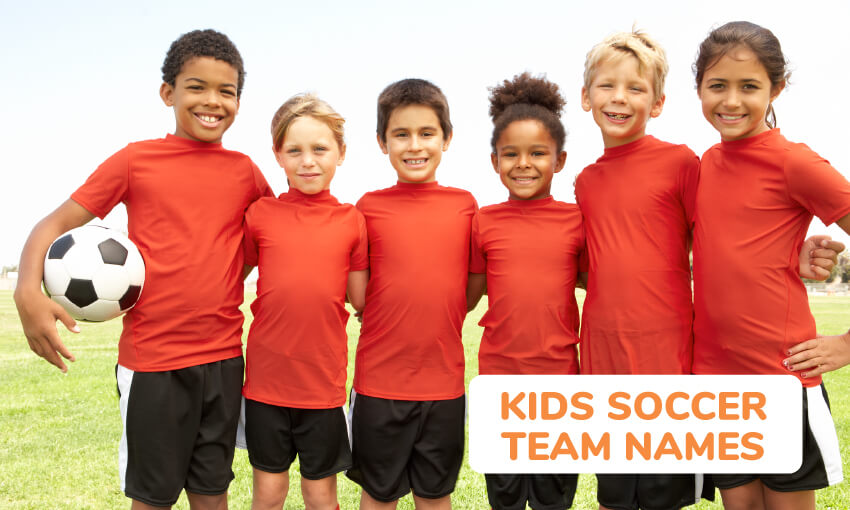 A collection of kids soccer team names.