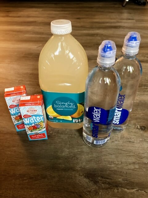 Potty training drinks to increase the need to go to the bathroom.