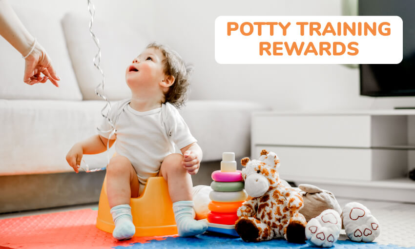 A collection of potty training rewards for boys.