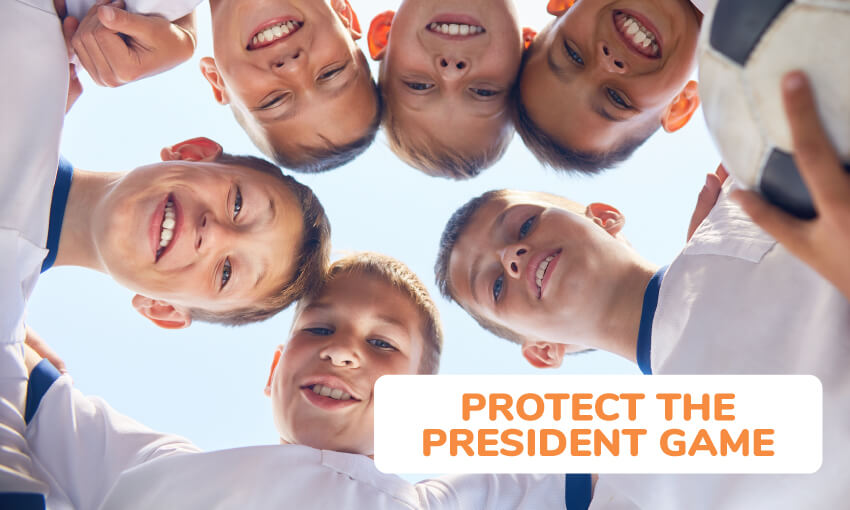 Game instructions for protect the president game.