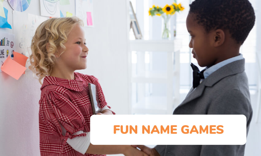 a collection of fun name games