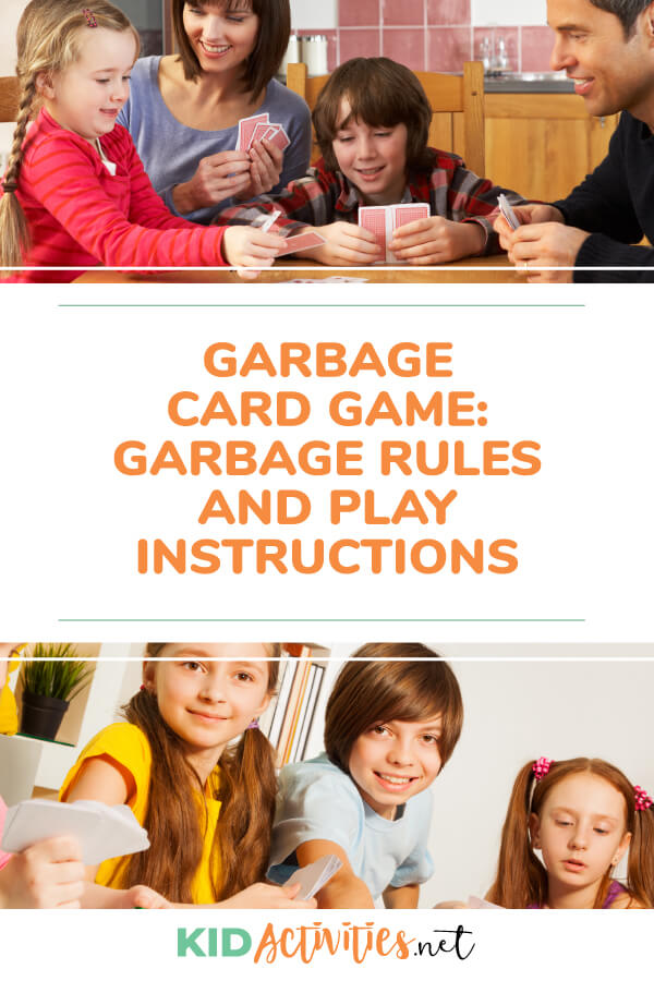 Learn garbage card game rules and instructions. A great card game for kids.