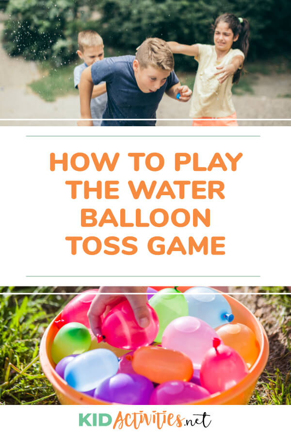 How to play the water balloon toss game.