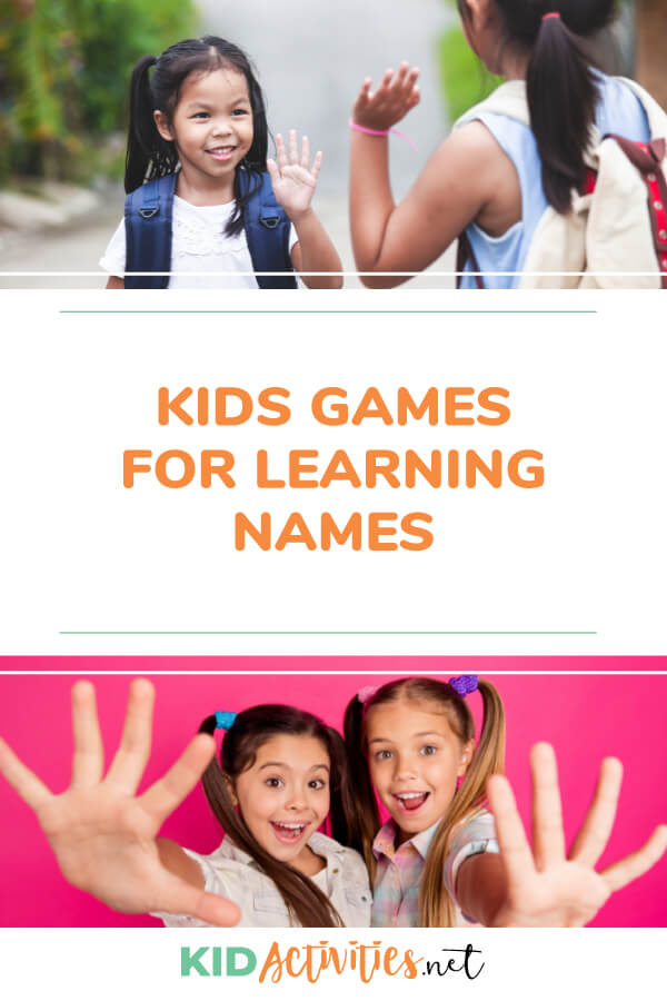 A collection of kids games for learning names. These name games will build name familiarity and can be used as getting to know you games.