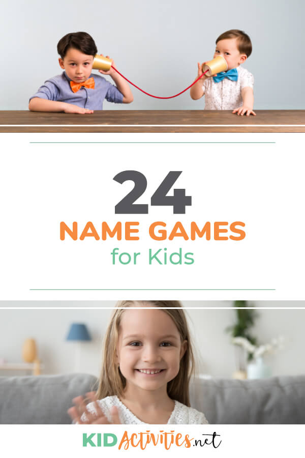 A collection of 24 name games for kids. These games are great for getting kids familiarized with each other's names and breaking the ice.