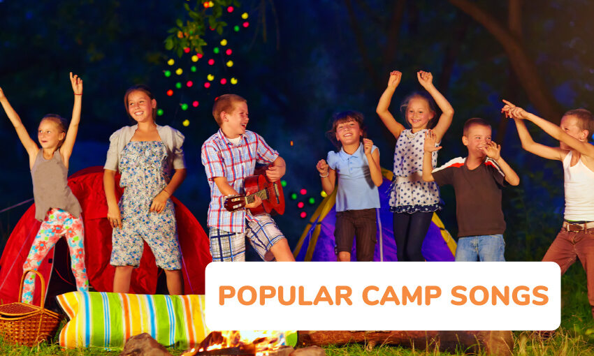 A collection of popular camp songs for kids to sing.