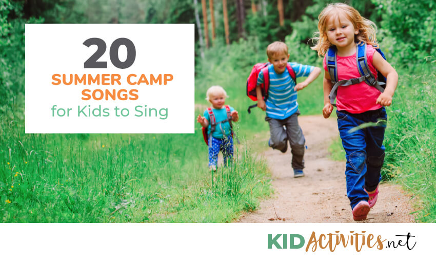 A collection of summer camp songs for kids to sing.