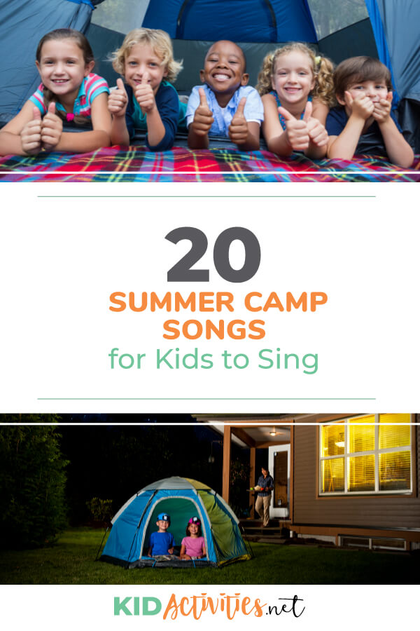 "A collection of summer camp songs for kids. Strategically incorporate these fun songs into your camp calendar. Sing ""Wheels On the Bus"" on the bus trip to camp. Sing the Wake Up Song when kids should be waking up."