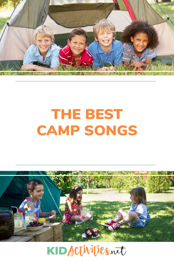 A collection of the best camp songs. These are great for summer camp or family camping trips. Build memorable experiences through singing songs together.