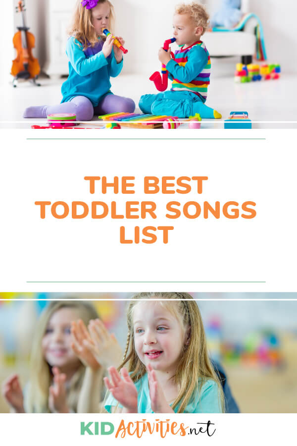 A list of the best toddler songs to sing. Great for a classroom sing along or teaching children about music at home.