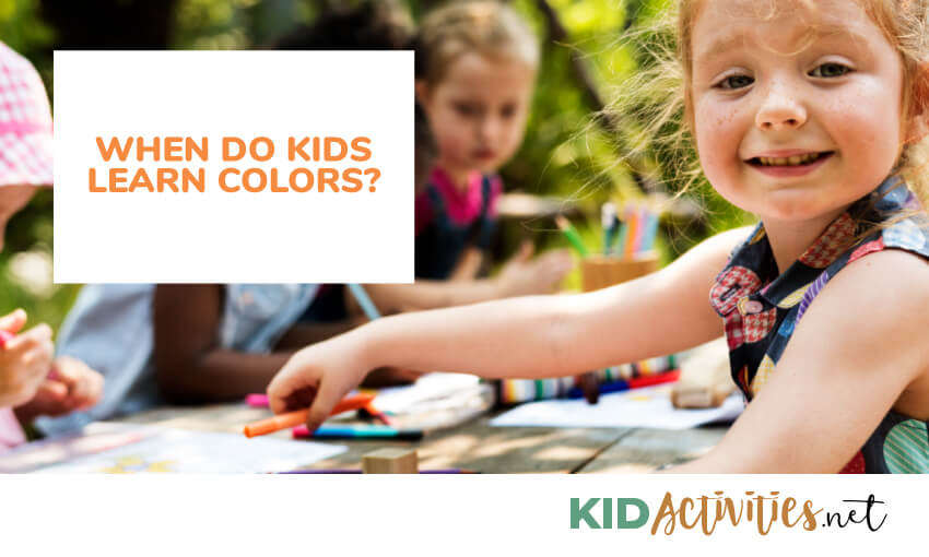 when do kids learn colors
