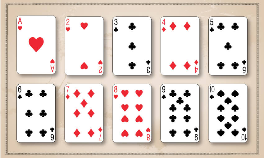 A winning hand of garbage, cards in sequential order.