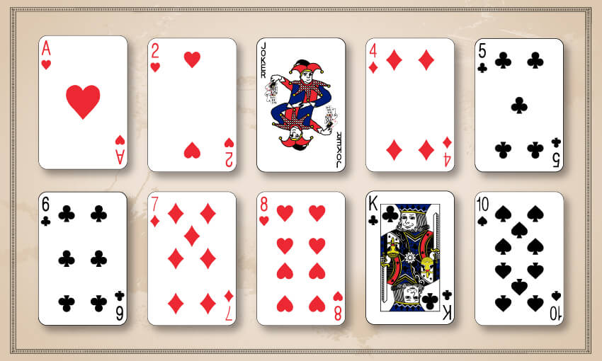 A winning hand of garbage where jokers were used.