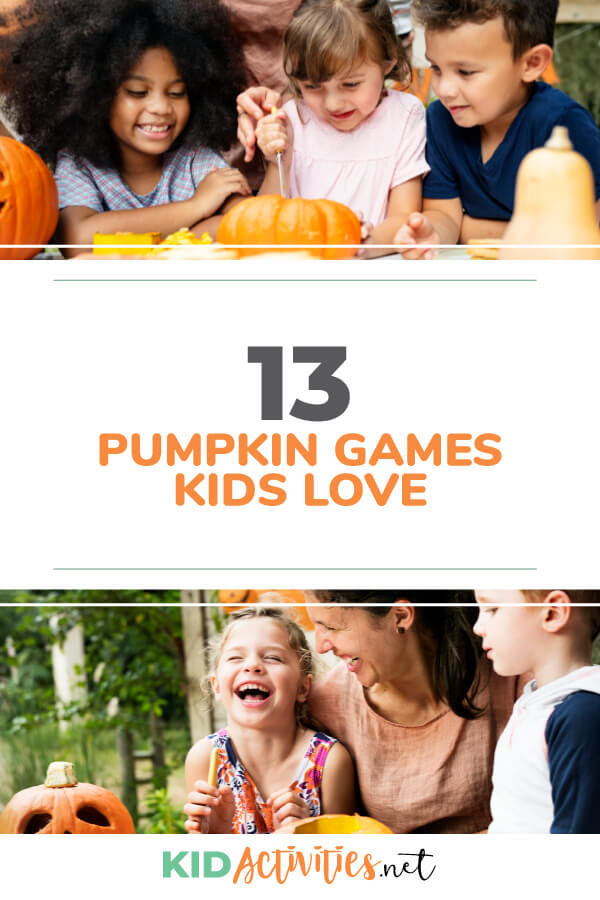 A collection of 13 pumpkin games kids love.