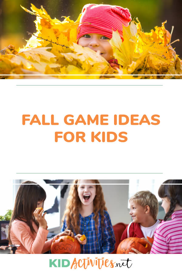 A collection of fall game ideas for kids.