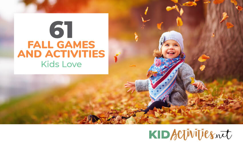 A collection of fall games and activities for kids.