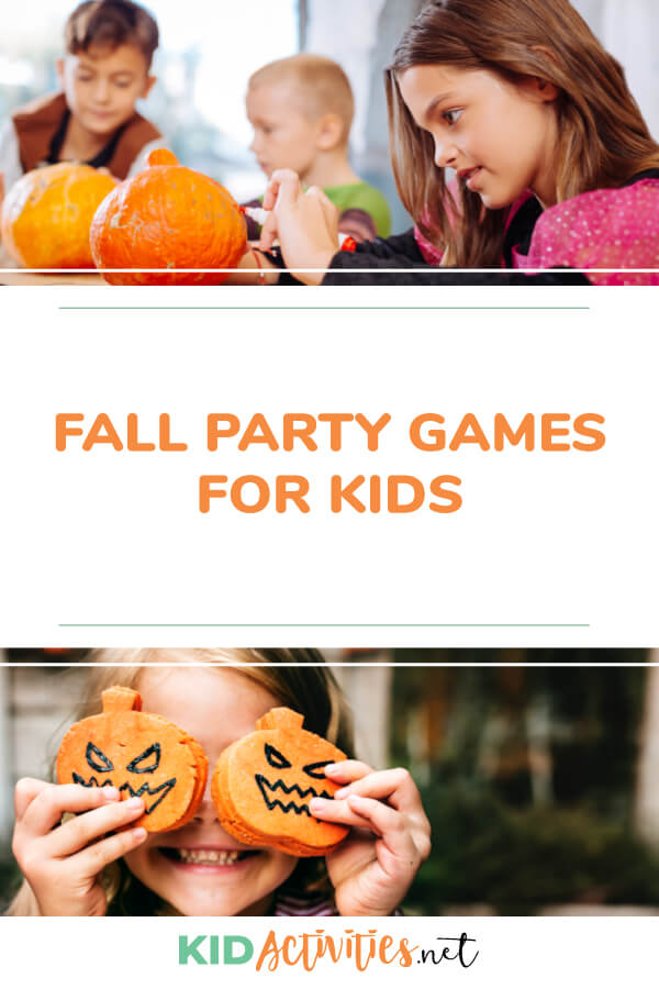 A collection of fun fall party games for kids.