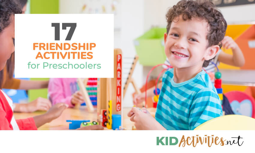 A collection of friendship activities for preschoolers.