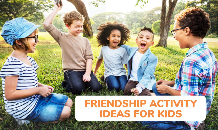 A collection of friendship activity ideas for kids.