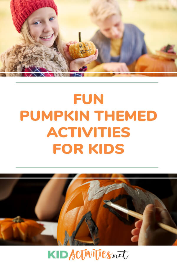 A collection of fun pumpkin themed activities for kids.