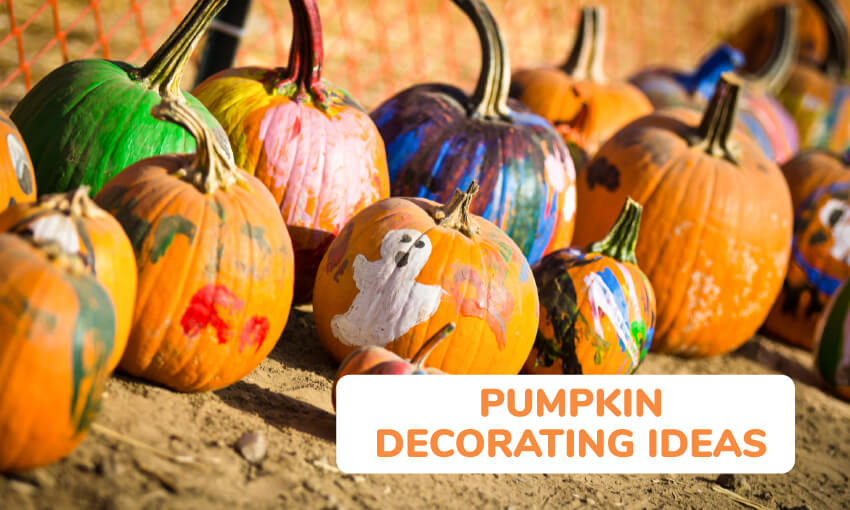 A collection of pumpkin decorating ideas for kids.